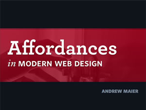 Affordances in Modern Web Design