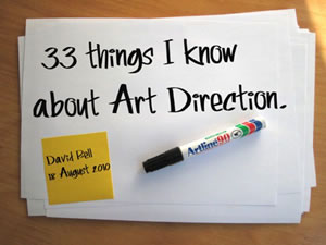 33 Things I Know About Art Direction