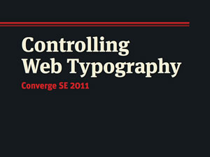 Controlling Web Type
