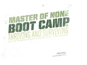 Master of None: Boot Camp
