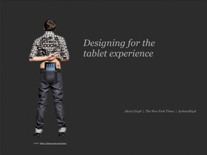 Designing for the Tablet Experience