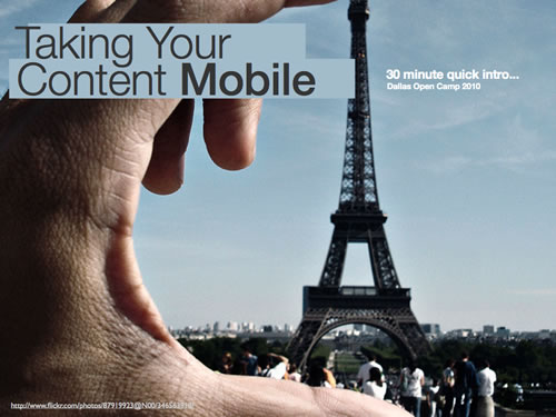 Taking Your Content Mobile